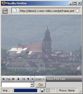 PTZ Oberfläche der C-MOR Videoüberwachung