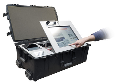 TEOS touch panel PCs from AURES to be used in the first mobile ID control kits