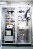 Gleichspannungsmodul des modular aufgebauten intelligenten Energieknotens (IeK) mit Netzregeleinrichtung (DC-Gridmanager des Fraunhofer IISB) und Wechselrichtern. Bild: Anja Grabinger / Fraunhofer IISB