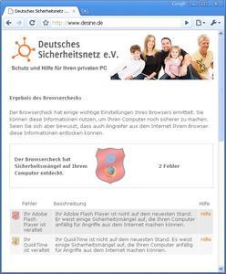 Kostenloser Browsercheck auf www.desine.de