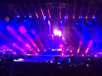 Bei Justin Biebers Konzert in Mumbai setzten Nebelmaschinen der Smoke Factory die Lichtshow in Szene
