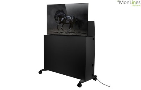 MonLines SIDEB mobiles TV Sideboard mit Lift, anthrazit