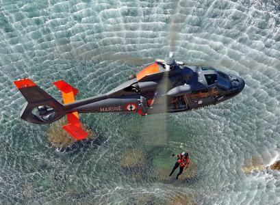AS365 N2 Marine performing SAR mission is enclosed © Copyright  Anthony Pecchi