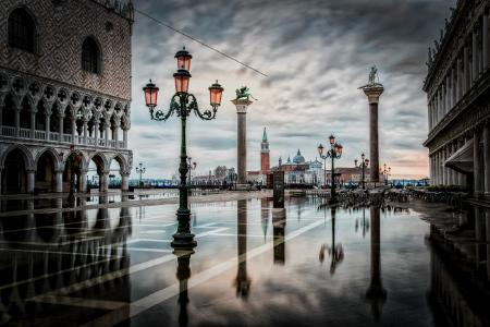 Architektonische Meisterleistung Venedig Markusplatz