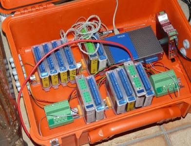 Pelicase DAQ hardware for the volcano monitoring