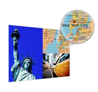Fotoposter mit Landkarte als Collage