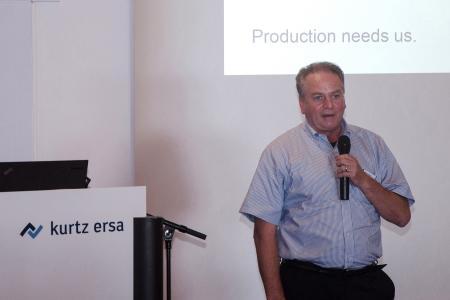 "Kurtz Ersa-CTO Uwe Rothaug beim ""Denker treffen Lenker""-Innovationsdialog in Kreuzwertheim-Wiebelbach"