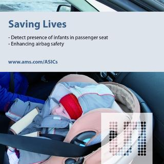 Enhancing airbag safety: ams IC helps to detect presence of infants in passenger seat