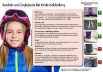Auf einen Blick: Was bei Kordeln und Zugbändern für Kinderbekleidung erlaubt ist und was nicht