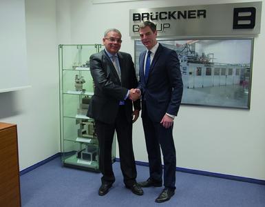 Mr. Abdelhak Ouzzir, President of BFP (left) and Mr. Peter Mertes, Senior Sales Manager of Brückner Maschinenbau