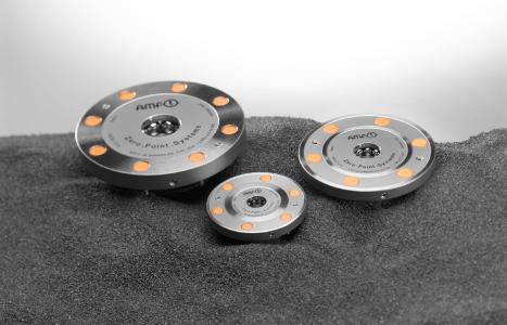 Mit AMF-Nullpunkspanntechnik lässt sich der Fertigungsvorgang im 3D-Druck mitsamt den anschließenden Folgeprozessen hochgradig standardisieren.