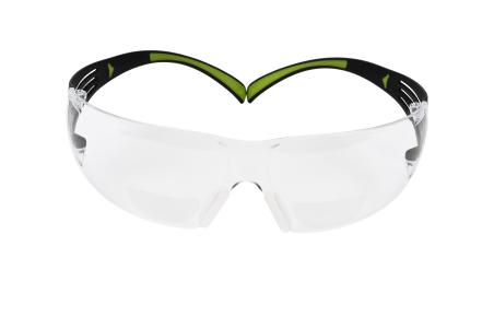 The 3M SecureFit 400 Safety Glasses provide the usual protection and allow for precise detail work with the integrated reading area