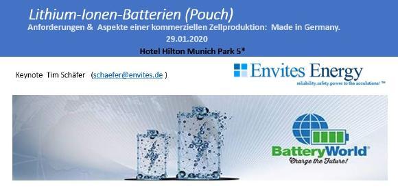 Neue Ceramic Lithium- Cool Dry Hochleistungsbatteriezellen aus Nordhausen