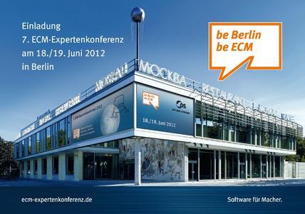 Die ECM-Expertenkonferenz findet im Cafe Moskau in Berlin statt