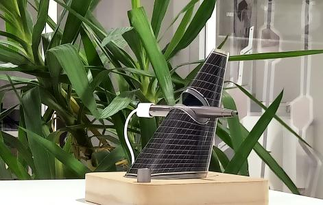 Solar driven power bank charger made by free-form OPV in a 3D configuration