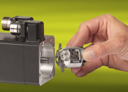 Die induktiven Drehgeber ECI/EQI 1100 und ECI/EQI 1300 sind anbaukompatibel mit diesen optisch abgetasteten, gelagerten Drehgebern der Baureihe ECN/EQN 1100 und ECN/EQN 1300