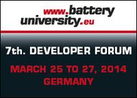 7th batteryuniversity.eu rechargeable battery developer forum informs for three days about the newest trends in the sector
