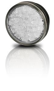 Die neue, runde LED-Leuchte von Hella für den kommerziellen Profi-Einsatz kombiniert die Funktionen Tagfahr-, Blink- und Positionslicht