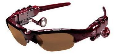 Sonnenbrille mit eingebautem UKW-Radio und MP3-Player
