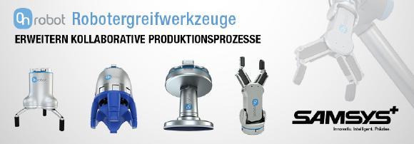 Die Samsys GmbH seit diesem Jahr als zertifizierter Vertragspartner auf die Robotergreiferwerkzeuge der Firma OnRobot.