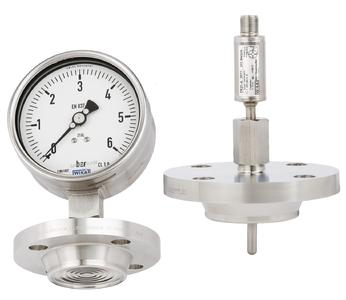 Measuring instruments with NEUMO BioControl® CS connection (Photo: WIKA Alexander Wiegand SE & Co. KG)