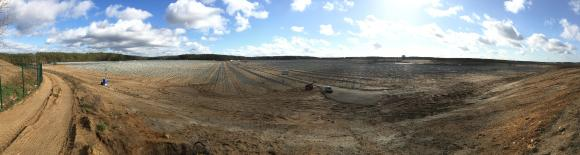 Construction site of the  65MWp PV-Project Ganzlin