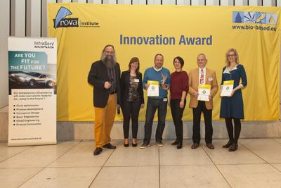 "Winners of the innovation award ""Bio-based Material of the Year 2016"" announced"