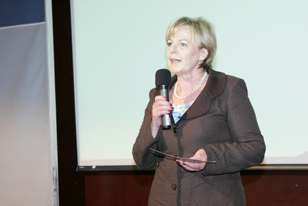 Evelyn Böhler, Vorsitzende von Frau in der Wirtschaft und selbst Unternehmerin, war die Hauptverantwortliche für dieses erfolgreiche Forum.