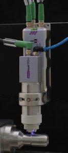 Aufbau des piezobrush® PZ3-i aus Treibergehäuse und Modulträger / Quelle: IKA®-Werke GmbH & Co. KG