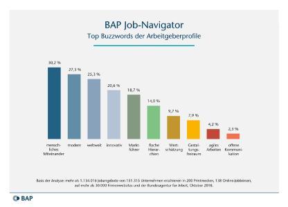 Grafik: Top Buzzwords der Arbeitgeberprofile