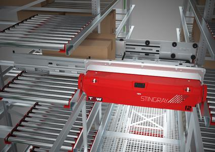 Der TGW STINGRAY überzeugt durch seine hohe Leistung und sein flexibel skalierbares, modulares System (Quelle: TGW Logistics Group GmbH)