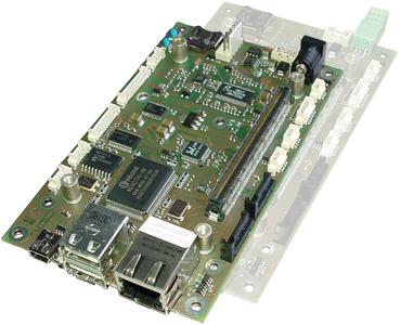 ePDAnano baseboards by b-plus carry the credit card sized nanoETXexpress® CPU modules following the COM Express™ conform form factor introduced by Kontron
