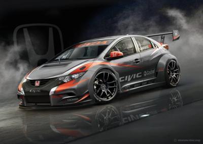 Gleich viermal wird der Honda Civic WTCC 2014 in der Tourenwagen-WM vertreten sein