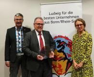 """Michael Pieck, Franz-Dieter Wirtz und Christine Lötters präsentieren den Wettbewerb um den """"Ludwig 2020"""""""