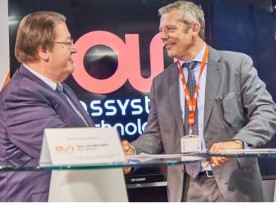 Yesterday in Toulouse, France, Eric Daubourg, COO/General Manager at ESI France (left) and Patrick Longuet, Vice President of Aerospace at Assystem Technologies (right), have signed an agreement to promote the Factory of the Future to SMEs