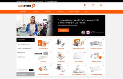 SAXOPRINT launcht Portal in Italien