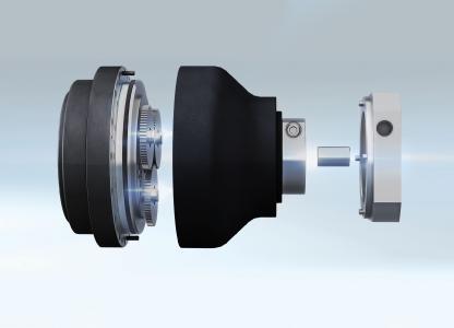 Ein flexibles System mit modularen Hülsen und Flanschen garantiert die unkomplizierte Adaption aller gängigen Servomotoren Bild: Nabtesco Precision Europe GmbH