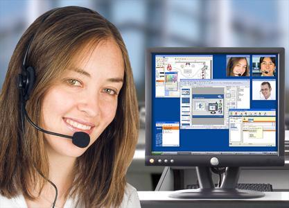 """Videokonferenz """"für jedermann"""" präsentiert die Bravis auf der Systems 2007. (Quelle: Bravis GmbH)"""