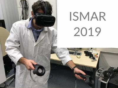 Fabrizio Palmas will present the results of his research in the field of virtual reality  at the International Symposium on Mixed and Augmented Reality (IEEE)