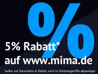 5% Rabatt auf www.mima.de