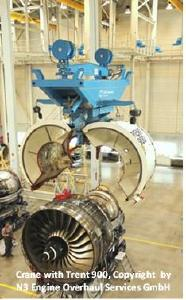 Crane with Trent 900 / Copyright by N3 Engine Overhaul Services GmbH
