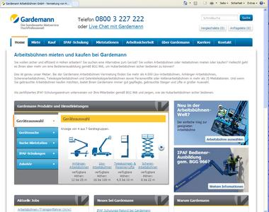 Der neue Internet-Auftritt von Gardemann www.gardemann.de