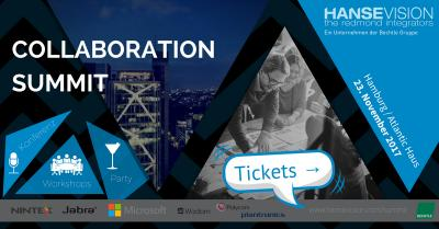 Erster Collaboration Summit in Hamburg. Workshops, Konferenz und Party am 23.11.2017