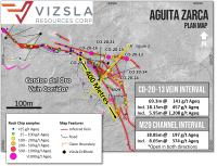 Vizsla drills 18.15 metres of 457 g/t silver equivalent in new zone along Corden Del Oro Vein at Panuco, Mexico
