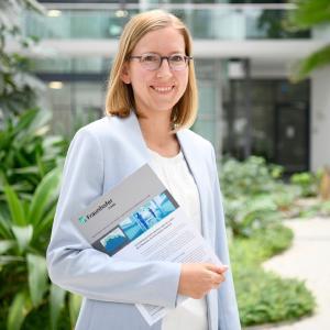 Dr. Elisabeth Leoff, stellvertretende Leiterin der Abteilung »Finanzmathematik« und Expertin auf dem Gebiet der Betrugserkennung im Gesundheitswesen @Fraunhofer ITWM