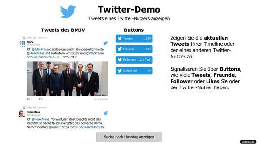 DSshow Digital Signage mit Twitter