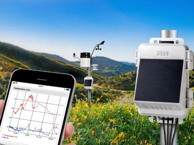 Kompakte HOBO MicroRX Station von Onset für die webbasierte Umweltüberwachung
