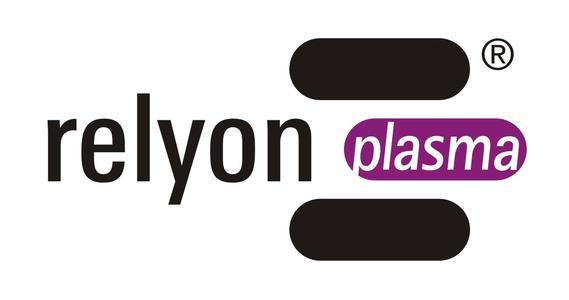 Das neue Firmenlogo der relyon plasma GmbH