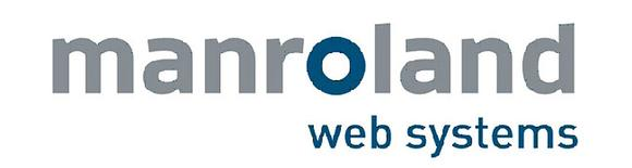 manroland web systems: the logo demonstrates self-confidence, continuity, and competence