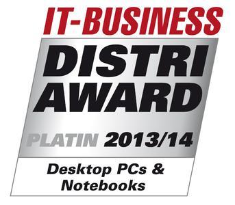 IT-BUSINESS Distri-Award Platin 2013/14